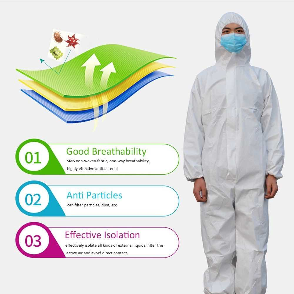 Disposable Protective Coverall Overalls Isolation Gown Safety Clothing Suit Full Bodysuit Security-Protection Suits Ant