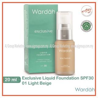 Wardah Exclusive Liquid Foundation SPF30 (20ml) [Light ...