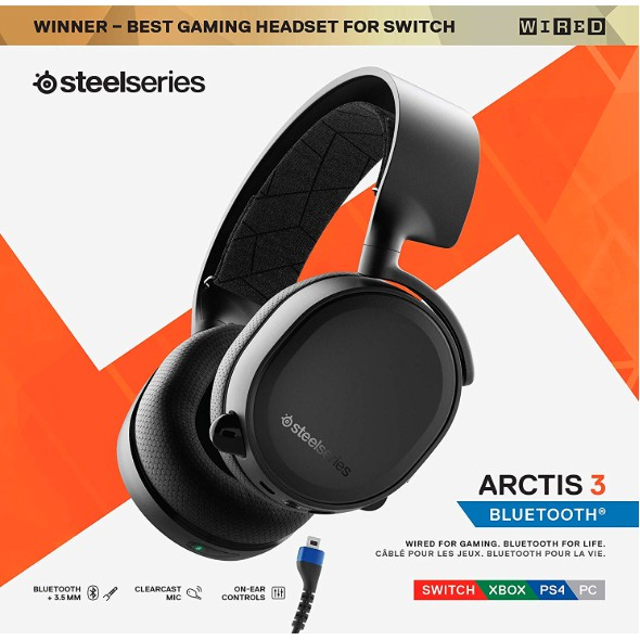 Steelseries Arctis 3 Bluetooth 2019 Edition Wired And Wireless Gaming Headset Shopee Malaysia