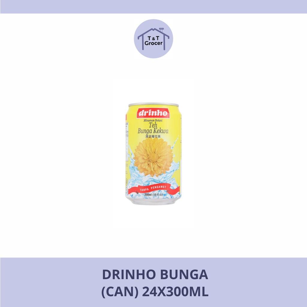 Drinho Minuman Can 24x300ml (Bunga/ Teh Lemon Ais/ Kundur/ Laici/ Durian Belanda / Soya Bean)