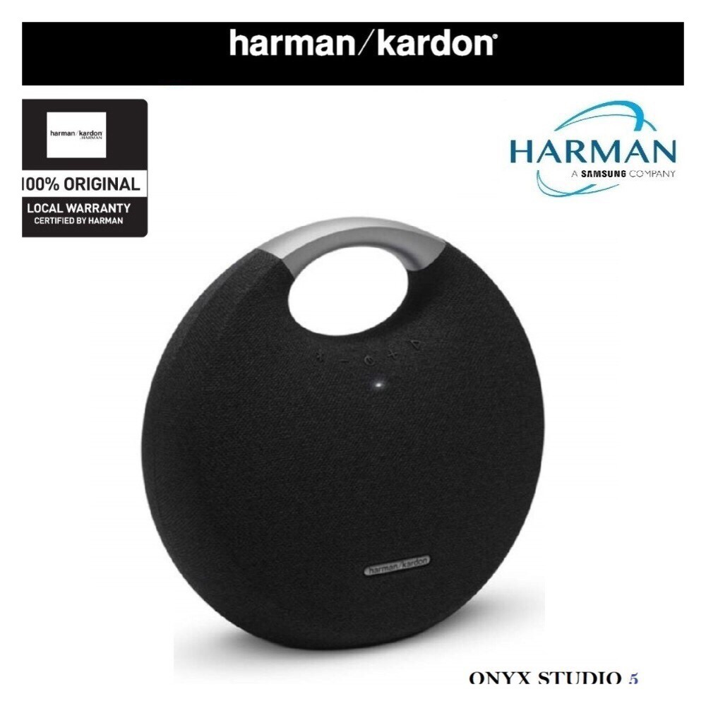 Harman Kardon Onyx Studio 5 Portable Wireless Bluetooth Speakers BLACK (1  YEAR WARRANTY)