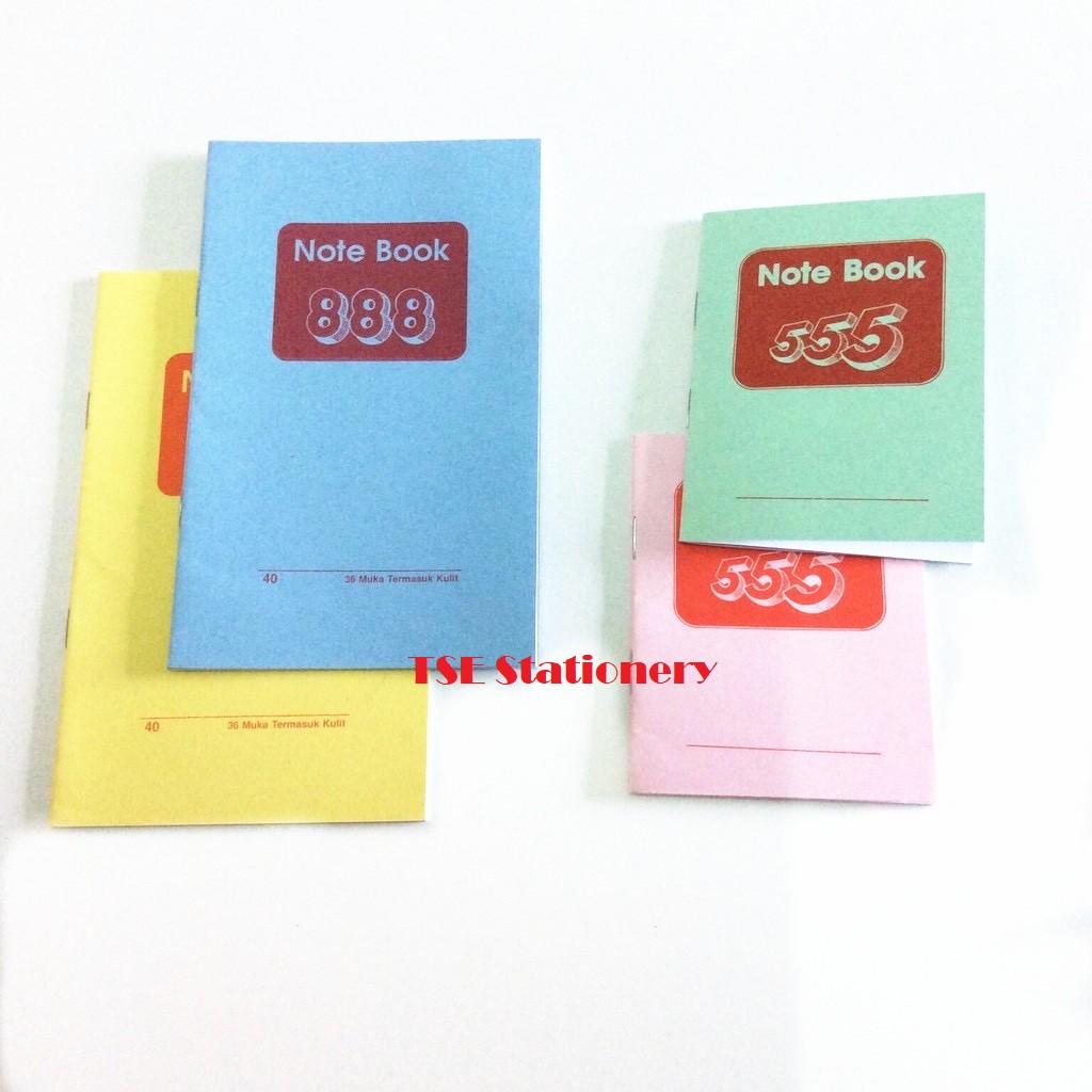 Note Book 555 / Note Book 888 Buku Kecil Notebook