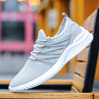 a71c3ee33a Men Breathable Mesh Sneakers Outdoor Casual Air Flat Non-slip Tide ...