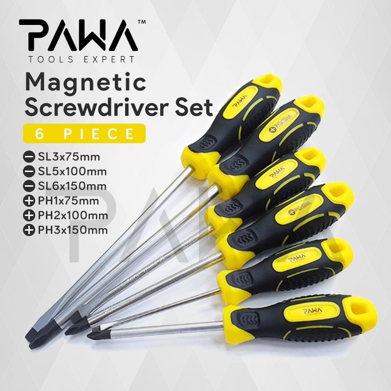 6mm /& Phillips Ph0 Ph1 Ph2 6pc Folding Screwdriver Set 5 Flat 3