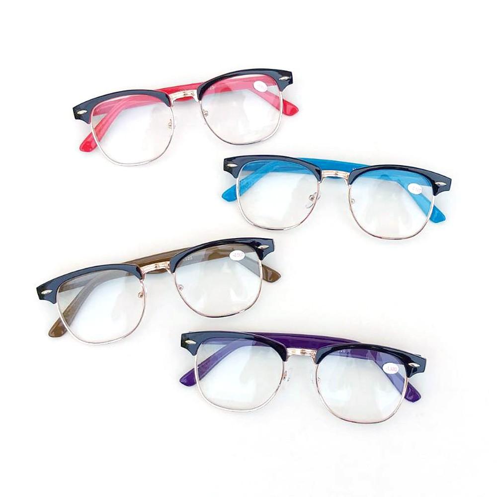 แว่นสายตาสั้น -0.5ถึง-4.0 กรอบครึ่งเฟรม ระบุสีด้ว