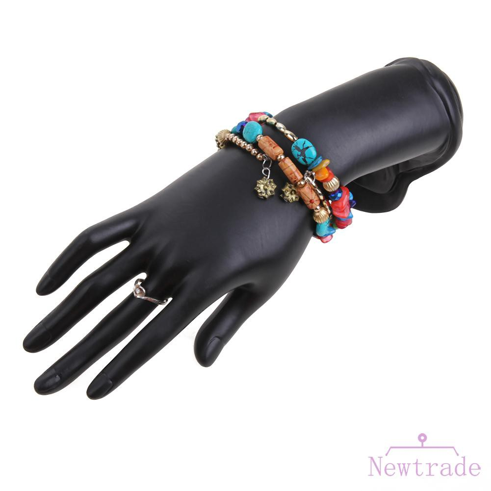 Black Resin Velvet Mannequin Hand Jewelry Stand Ring Bangles Chains Display