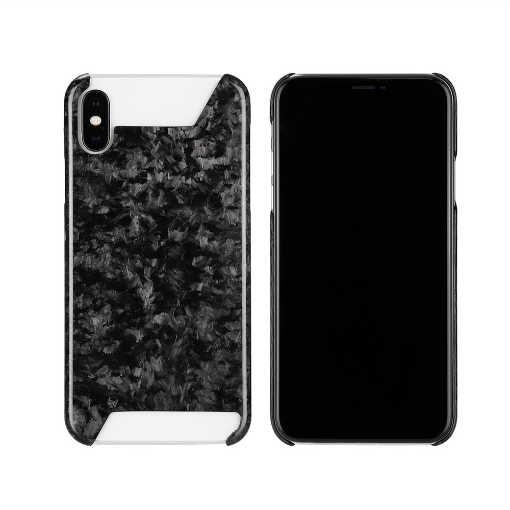 new concept 392f2 8165a Half Real Forged Carbon Fiber Case for iPhone X XS XR XS MAX