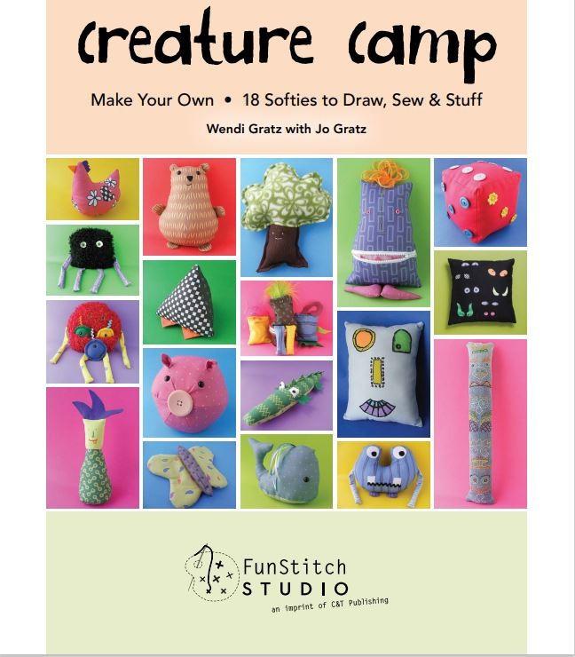 Pdf E Book Creature Camp 18 Softies To Draw Sew And Stuff Shopee Malaysia