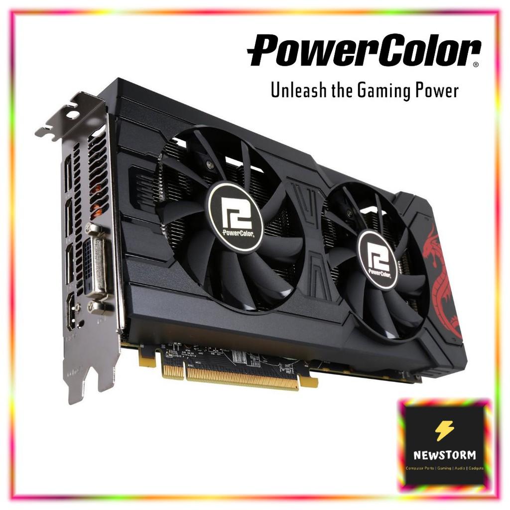 POWER COLOR ATI RX 570 4GB GDDR5 256BIT RED DRAGON (4715409189084)