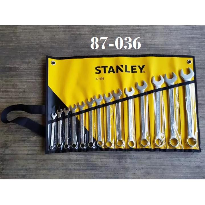 STANLEY SLIMLINE 14PCS CR-V COMBINATION SPANNER WRENCH SET SOCKET NUT DRIVER 87036 87039 87709 87-036 87-038 87-709