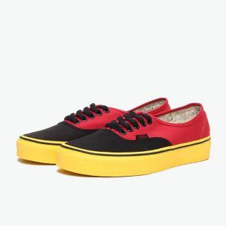 neuartiges Design riesiges Inventar Outlet-Verkauf Disney x Vans Authentic Mickey Mouse Red Yellow Men Shoe Sneaker