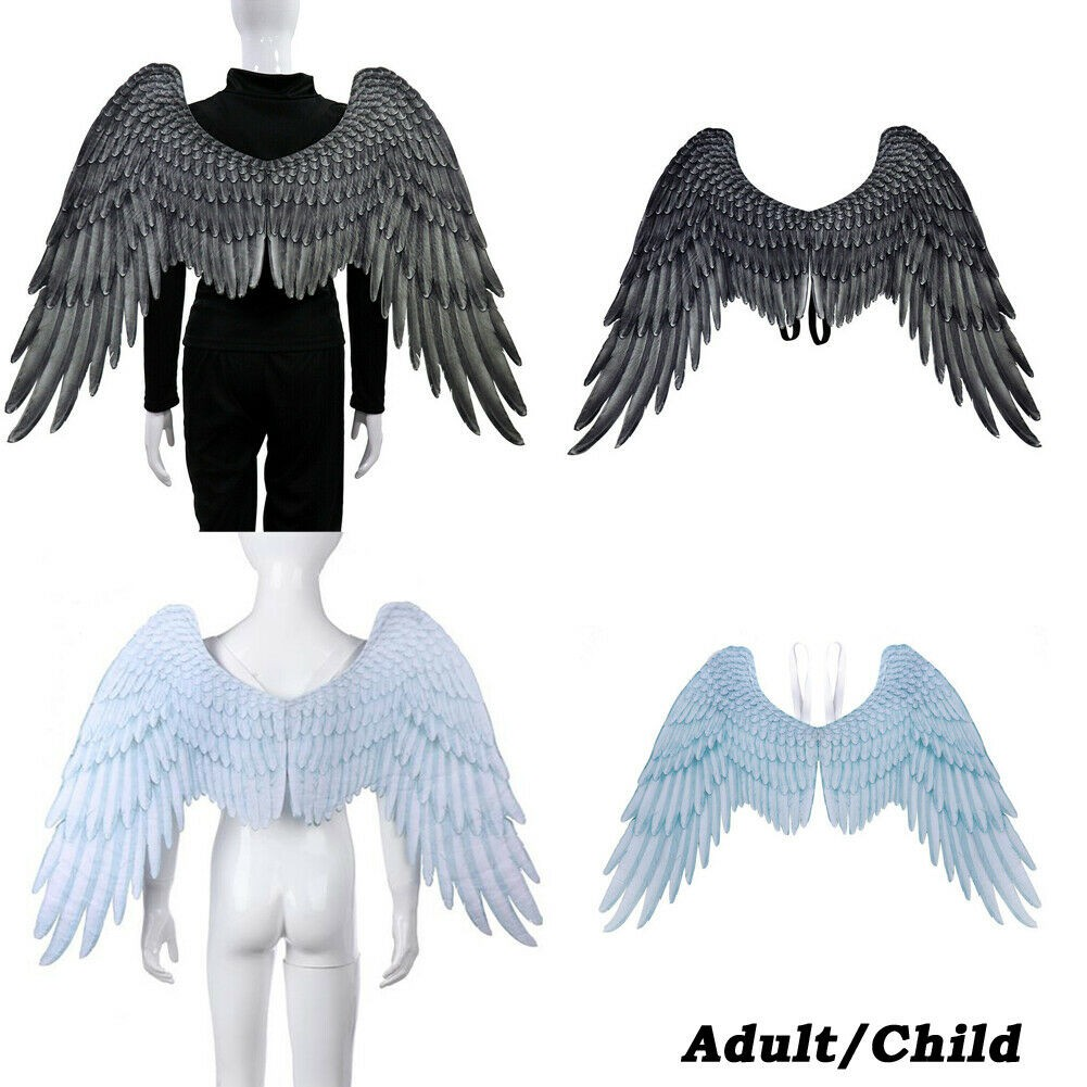Feather Angel Wings Christmas Halloween Fancy Dress Costume Cosplay Hen Night