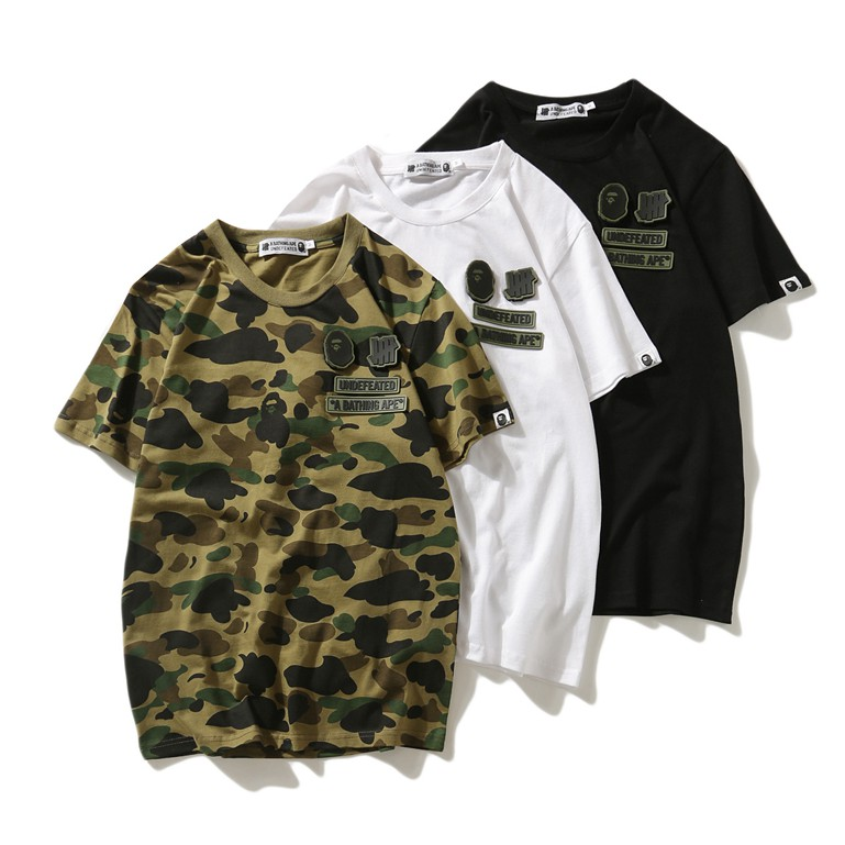453609485917 Men s Aape Bape Cotton Tee A Bathing Ape Shark Jaw Head T-Shirt ...