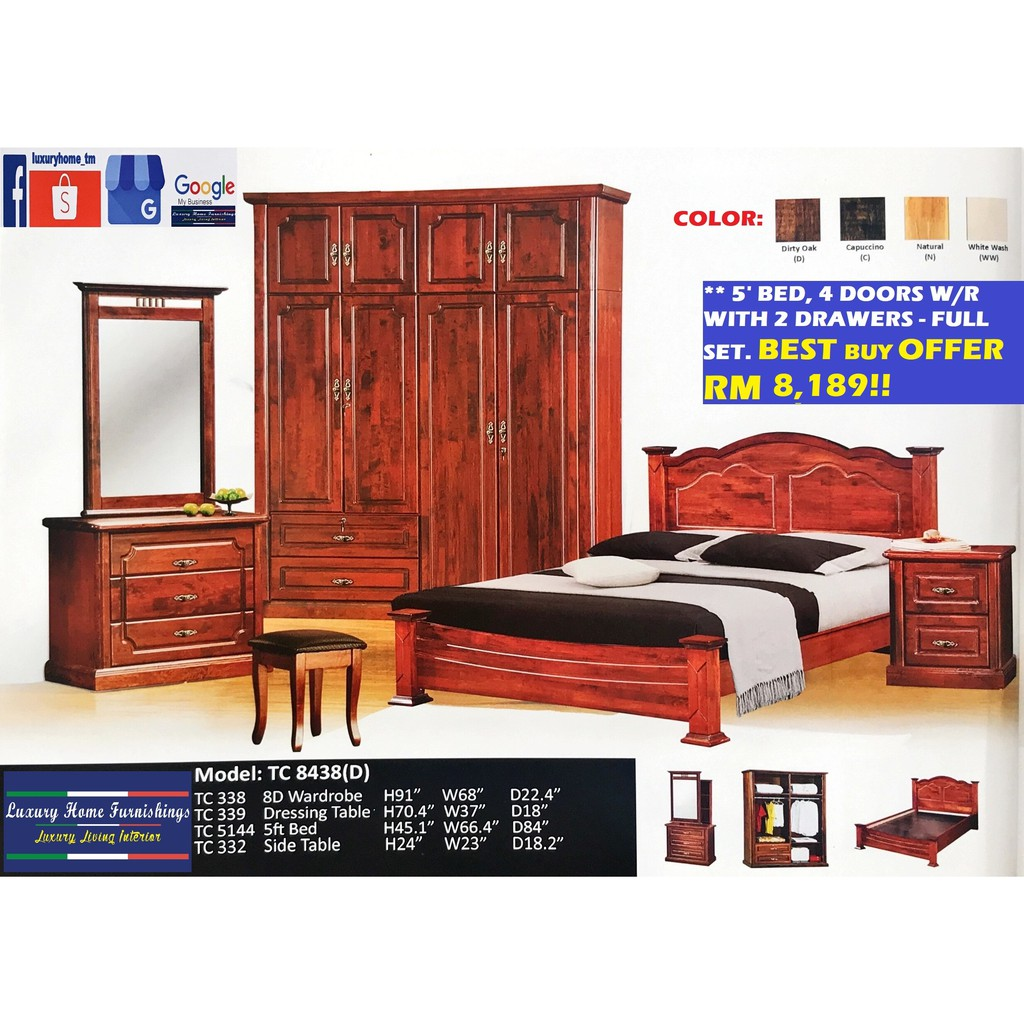 BED ROOM SET COLLECTION G