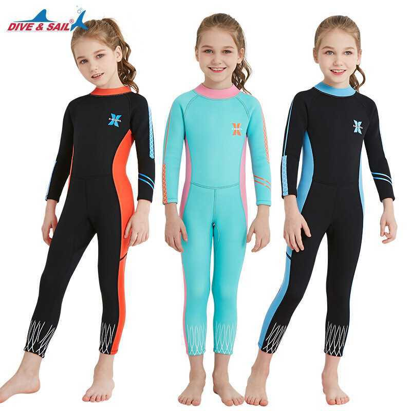 17520334be children's girls 2.5mm wetsuit scuba surf dive skin dive swimming suit