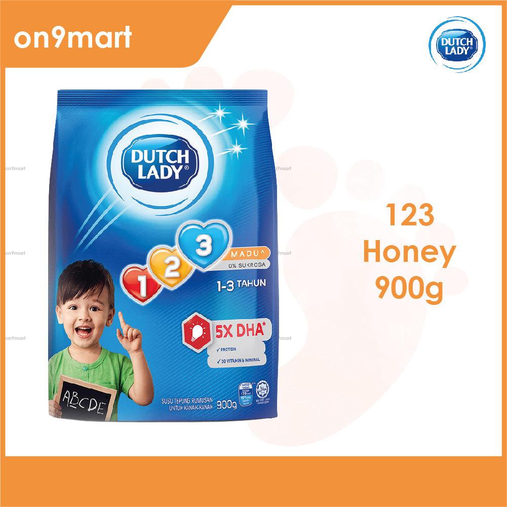 Dutch Lady 123 Honey Formulated Milk Powder 900g