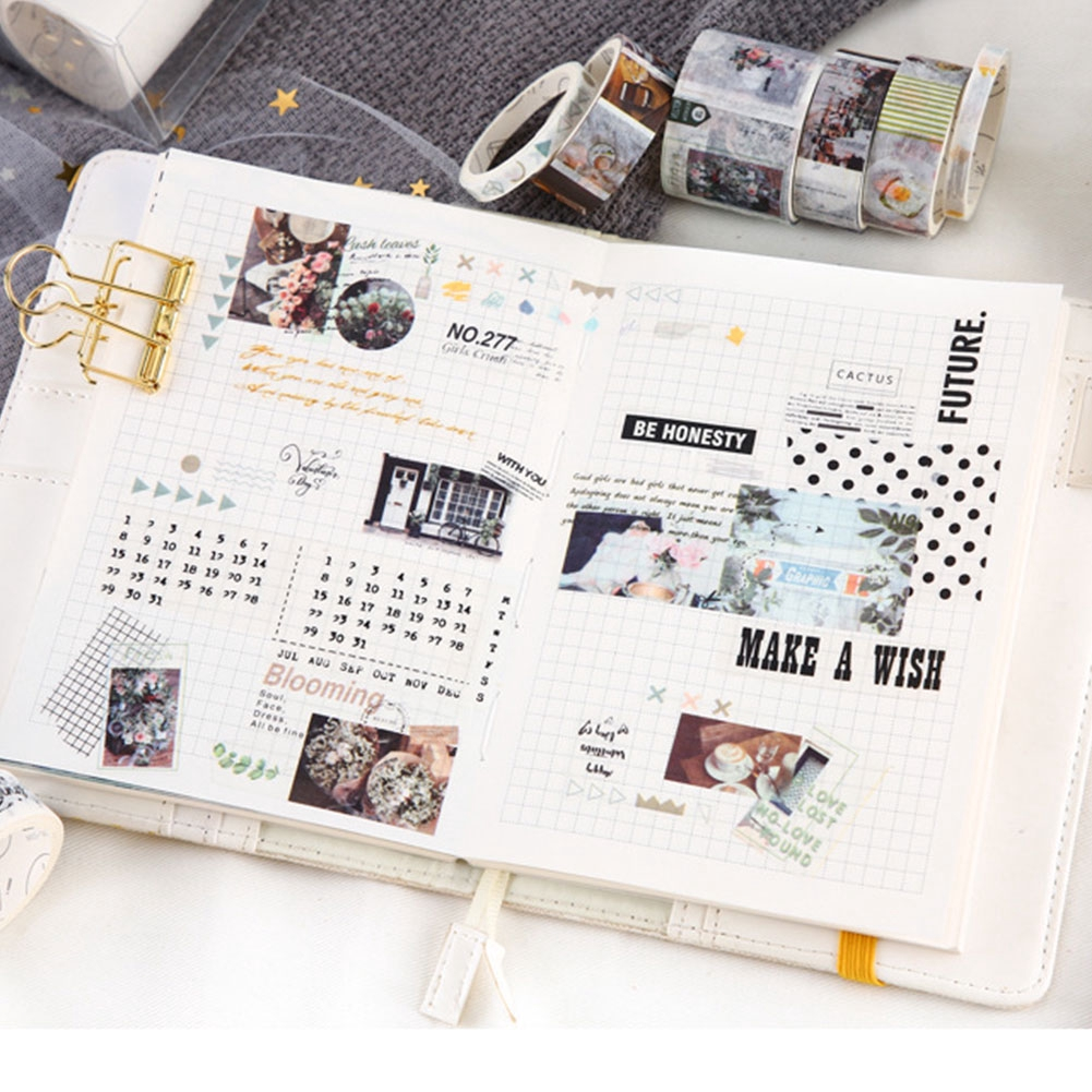 Honest 8pcs Sets Gradient Color Botebook Book Photo Album Scrapbooking Mark Stickers Useful Small Tool Diy Decoration Synthetic Wigs