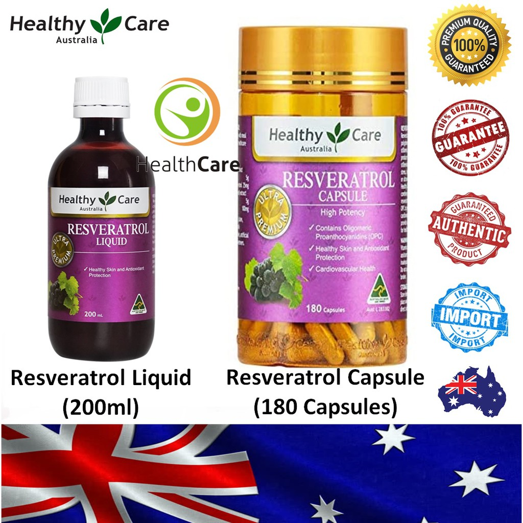 【Ready Stock】Healthy Care Resveratrol 白藜芦醇 (Import Direct Australia)
