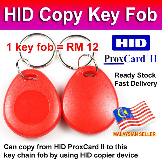 HID Copy Key Fob Clone Duplicate 125khz Writable ProxCard II 1326bit Keyhain