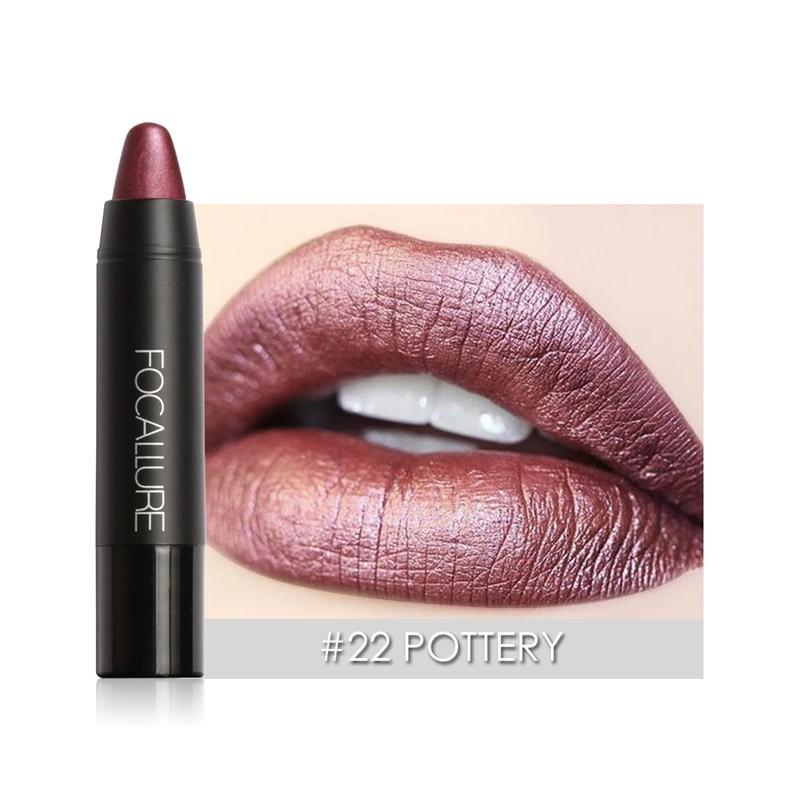 Professional Metallic Cool Lipstick Waterproof Lasting Cosmetics Sirs