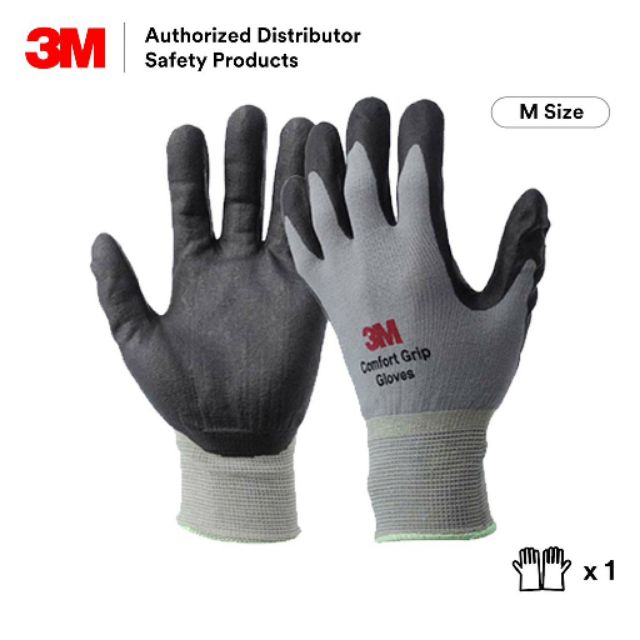 3M Comfort Grip Gloves General Use [Size M/ Size 8] [1 Pair]