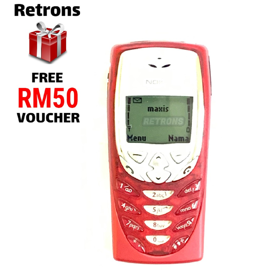 🇲🇾 Seller Original Nokia 8310 Red Black + Extra Battery (x2 Batteries) Full Set Classic Phone FREE RM50 Voucher