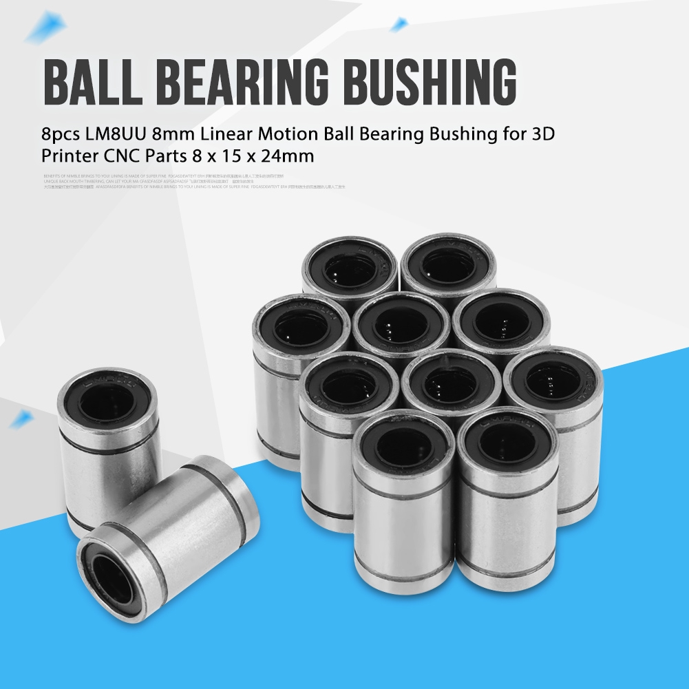 12pcs LM8UU 8mm Linear Ball Bearing Bushing