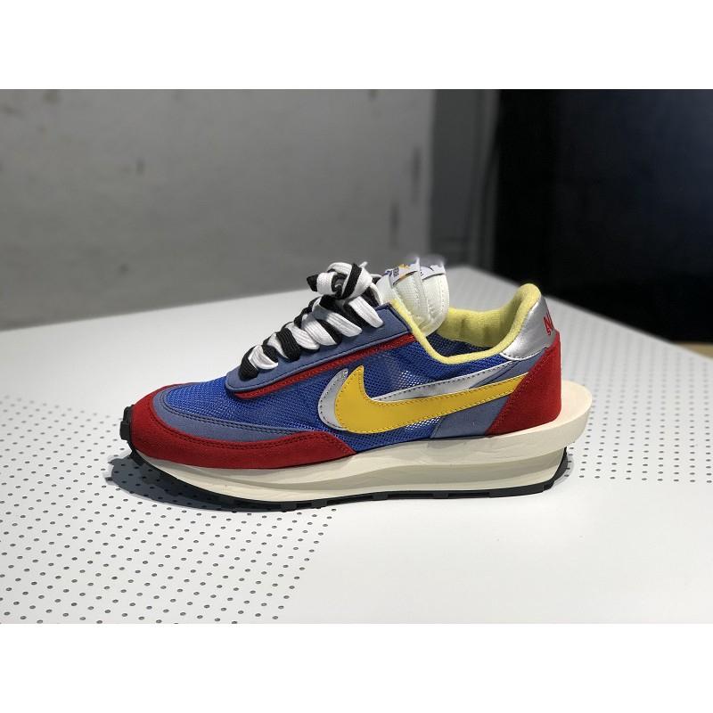 promoción mientras tanto Ceder  Premium Sacai x Nike LDWaffle Retro Running Shoes Men Women Outdoors Sports  Sneakers Red Blue | Shopee Malaysia