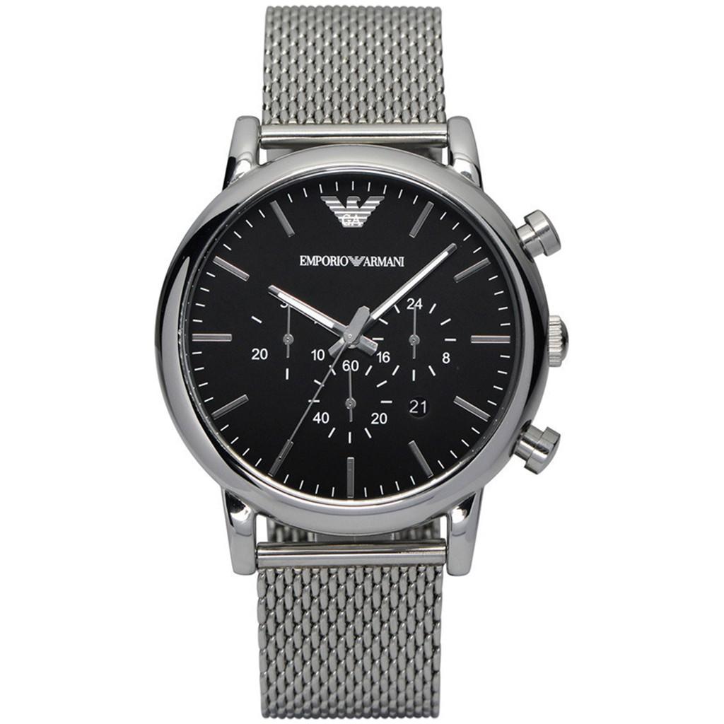 a6b9d2c88b1 Emporio Armani Men s Classic Chrono Black Dial Steel Watch AR1811 ...