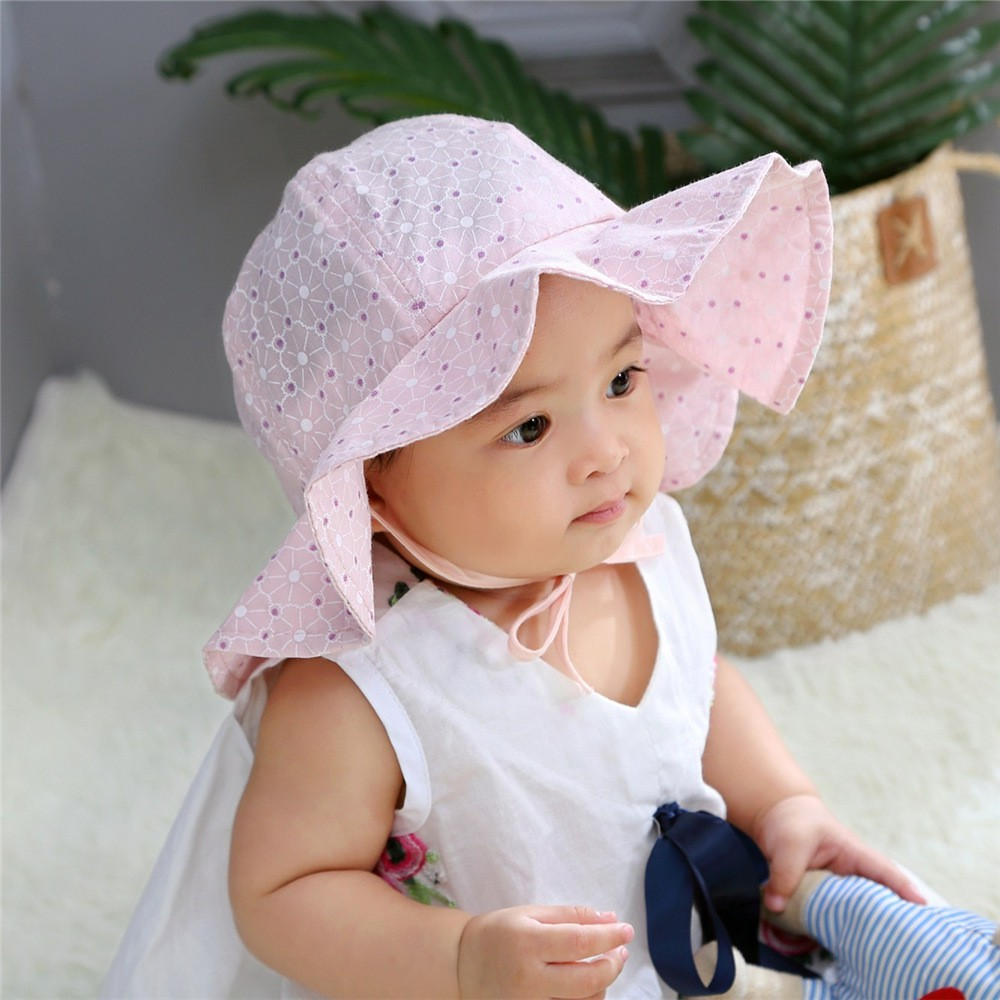 Korean Style Soft Cotton Cap Baby Cute Lace Princess Hat Spring Summer Girl Hat