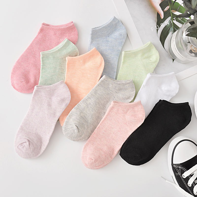 Coolred Womens Cotton Breathable Non Slip Yoga Sports Socks 8-Pack