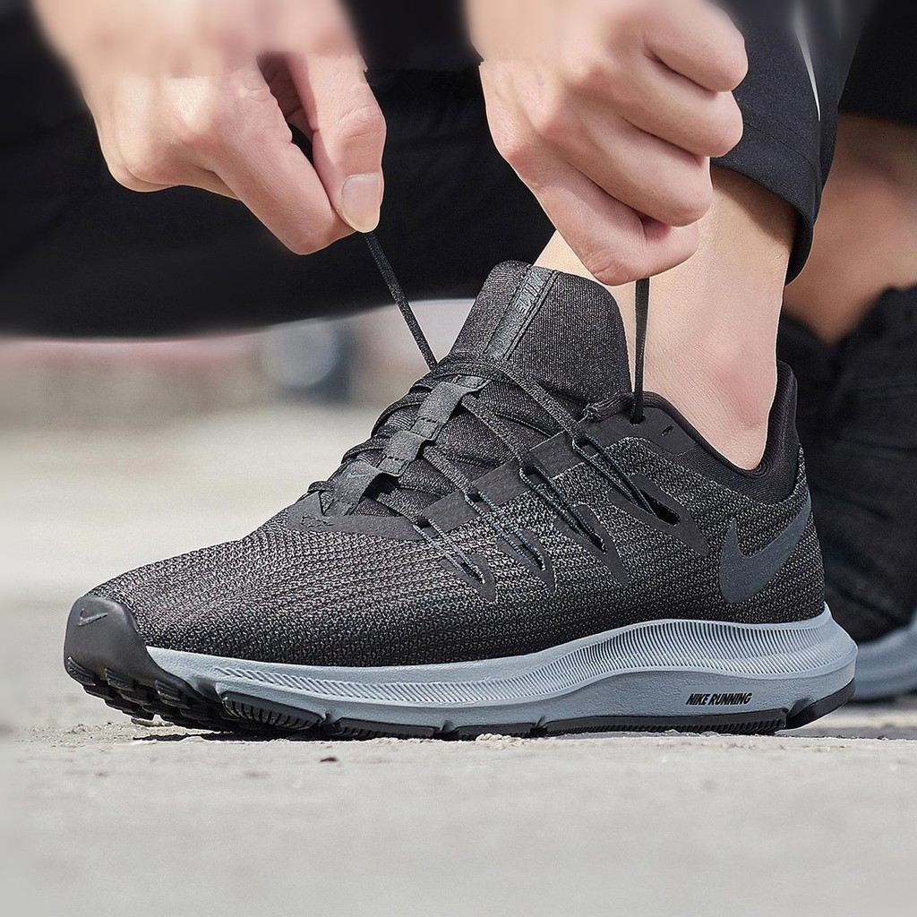 entrada Encommium Búsqueda  Nike Quest 2.0 casual breathable running men's flyknit shoes black&gray  AA7403 002 | Shopee Malaysia