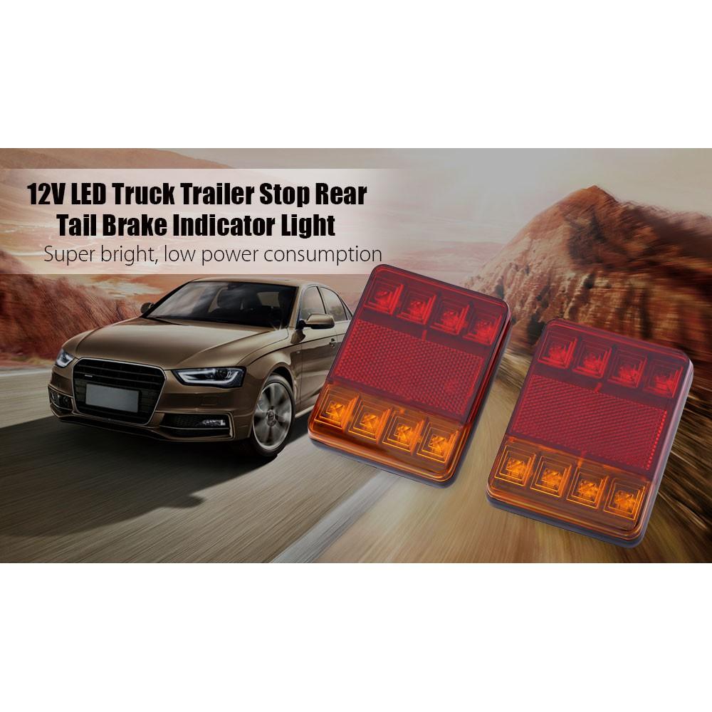 12V LED Van Truck Trailer Stop Rear Tail Brake Light Indicator Bright Lamp