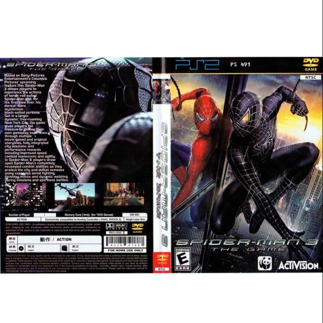 PS2 Games CD Collection Spiderman 3