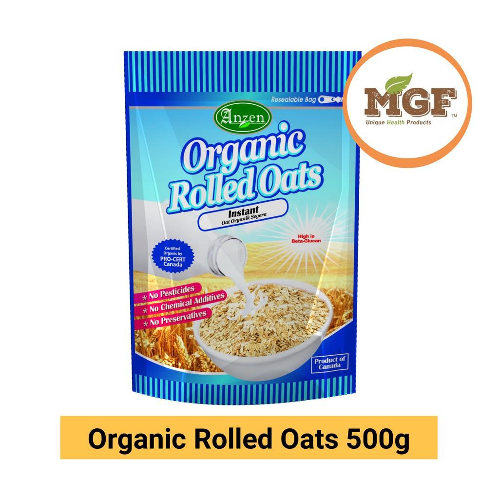 Anzen Organic Rolled Oats Instant 500g Exp:07/2020