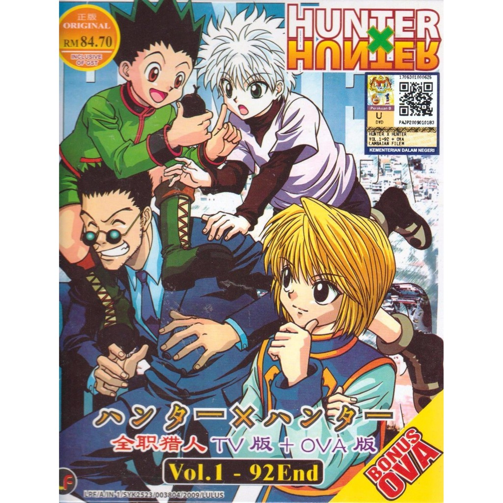 Anime DVD Hunter X Hunter Vol.1-92 End + OVA