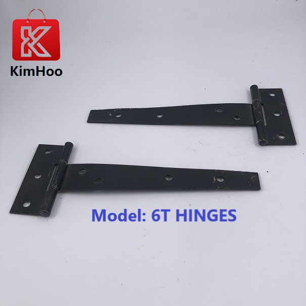 KIMHOO T Hinges T-Strap Metal Iron Shed Vintage Hardware Window Gate Cabinet Door Shed