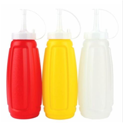 Plastic Sauce Bottle 2 In 1 Pack Sauce Squeeze & Sauce Bottle Dispenser Ketchup Mustard Mayo Sauce Condiment