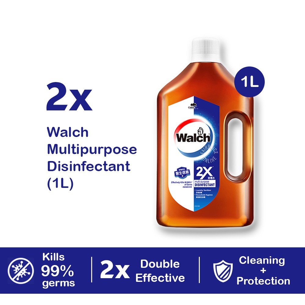 [Bundle of 2] Walch Multi Purpose Disinfectant 2X 1L Kills 99.9% of Germs