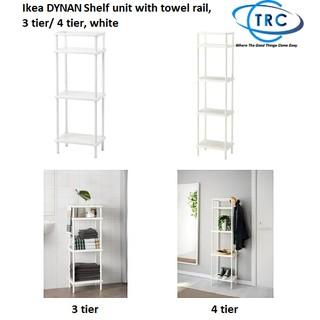 newest 5fb52 04530 Ready stock! Ikea DYNAN Shelf unit with towel rail, 3 tier ...