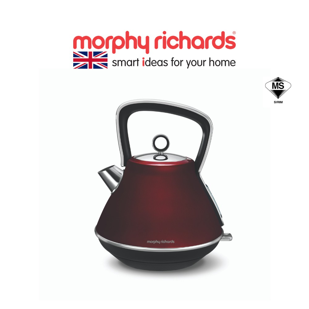 Morphy Richards Kettle Evoke Pyramid Red 100108