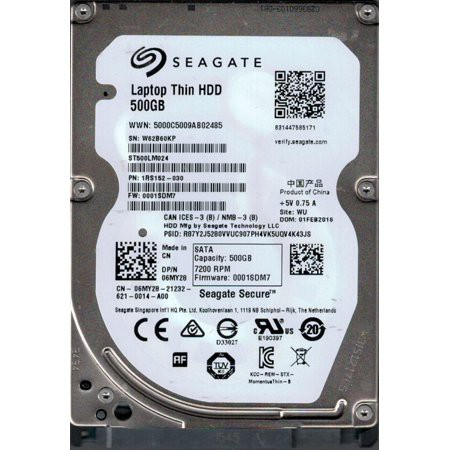 Preloved Seagate 500GB 2 5-inch SATA Hard Drive HDD with Laptop Encryption