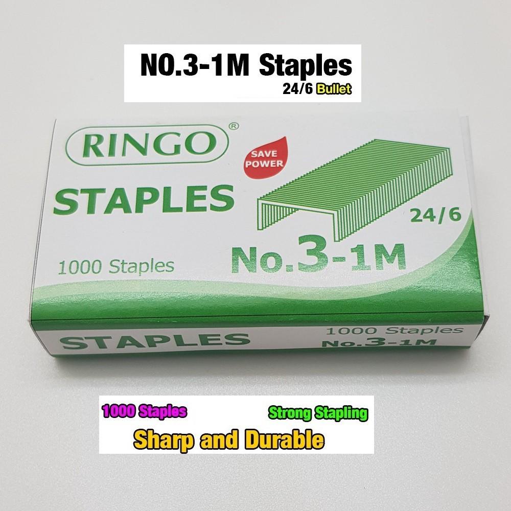 Ringo Heavy Duty Staples Staples No.3-1M 24/6/Dawai Kokot/Staples