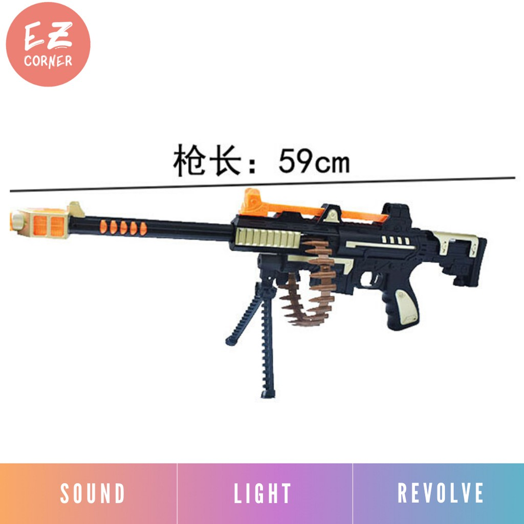 Electric Pistol Shoot Gun With Flashing Light Sound Shopee Malaysia
