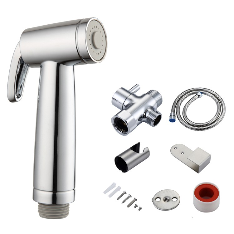 Hand Held Bidet For Toilet Sprayer Combo For Bathroom 3 Functions Muslim Shower With Hose And T Valve Chrome Shopee Malaysia