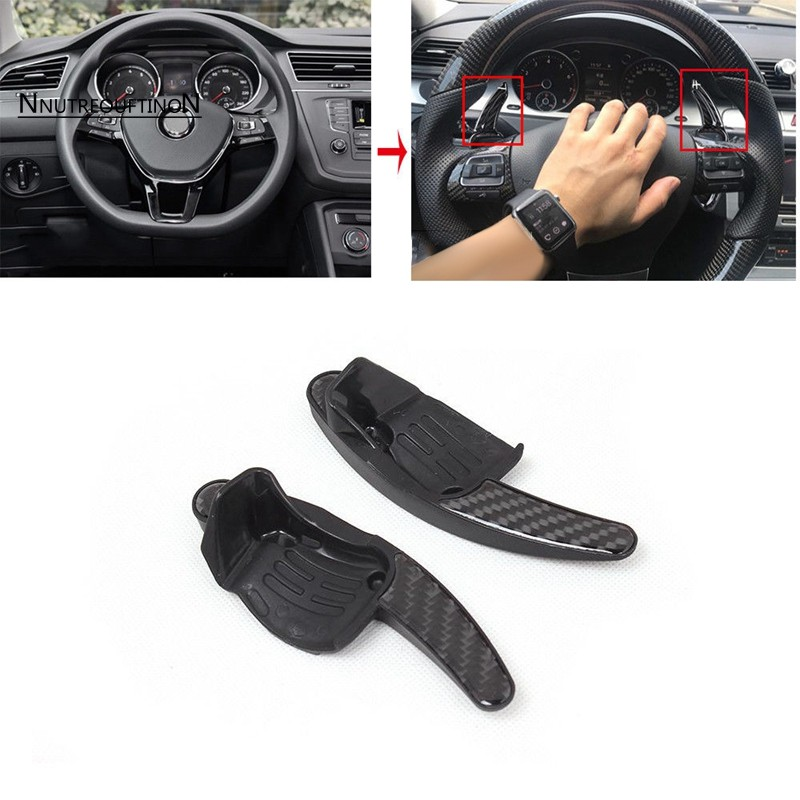 Steering Wheel Shift Paddles Fit For Vw Golf 6 Mk6 Vi Gti R20 Scirocco  Passat Cc