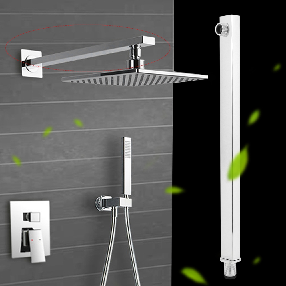 60cm Stainless Steel Construction Wall Mounted Shower Extension Arm Shower Arm Bathroom Attachment