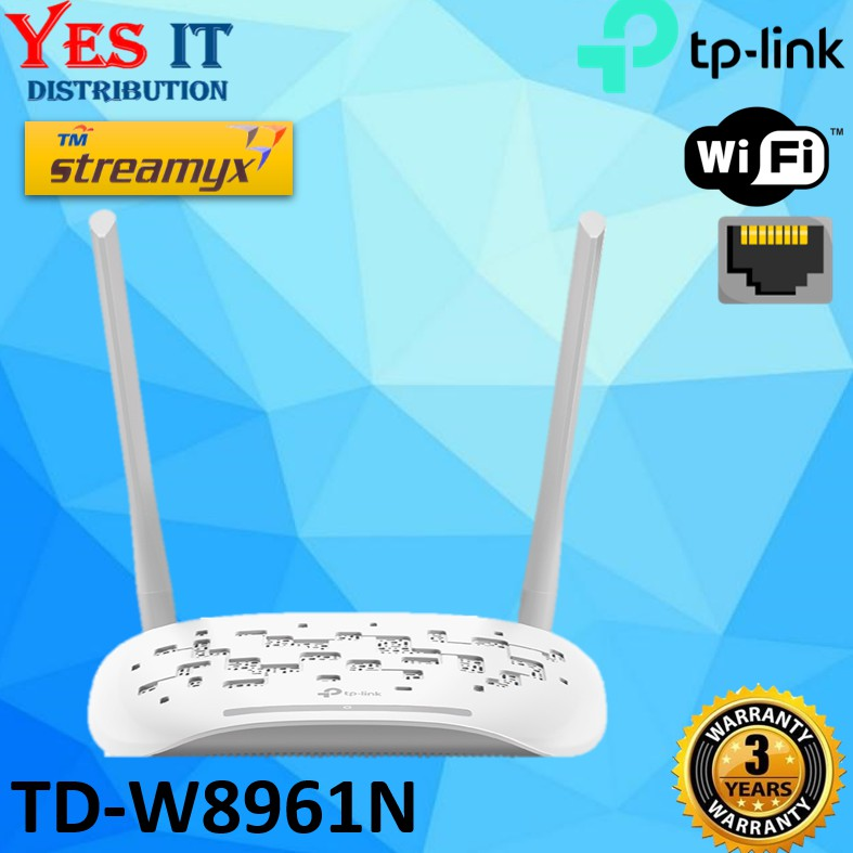 TP Link TD-W8961N 300Mbps Wireless Router Modem (OEM PACK)