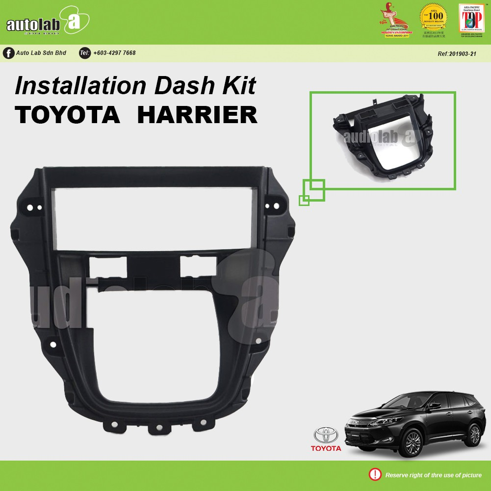 Player Casing Single Din Toyota Harrier RX-300 1998-2003