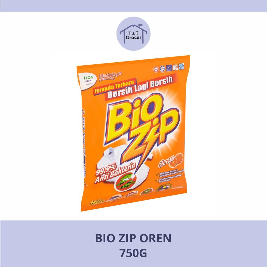 Bio Zip Sabun Baju (Aloe Vera/ Colour/ Oren/ Parfum Bouquet) 750g